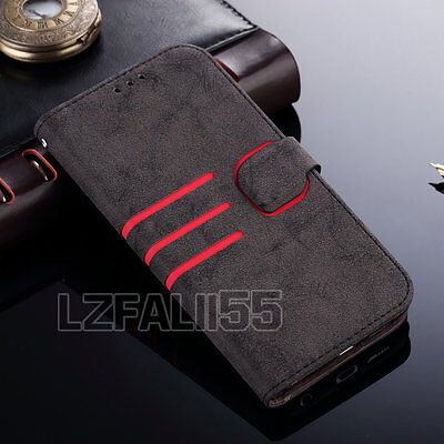 Vintage Luxury Magnetic Flip Stand Leather Wallet Case Cover For Samsung Galaxy
