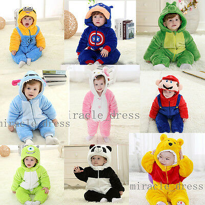 Soft Baby Toddlers' thick Outerwear Unisex Cosplay Animal Onesie Costume romper