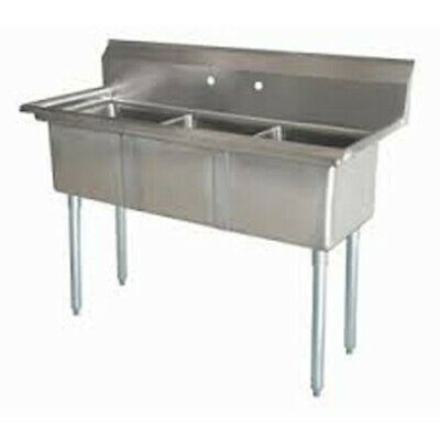 Three Compartment NSF Comercial Sink Size Bowl 18 x 21