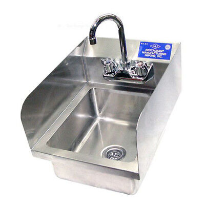 Economy Hand Sinks With Side Splash 22 Gauge Size Bowl Size 12 x 12 x 5