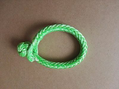 Green 6mm*80mm quick release soft shackle,UHMWPE Synthetic Shackles,Rope Shackle