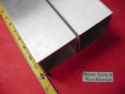 "2 Pieces 3""x 3""x 1/8"" Wall x 12"" Long ALUMINUM SQUARE TUBE 6063 T52 3""SQ x .125"""