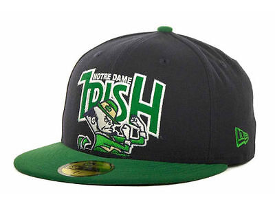 Notre Dame Fighting Irish NCAA New Era 59FIFTY Fitted Cap Hat - Size: 7 3/8