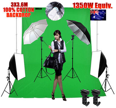 Photography Studio Continuous Lighting Softbox Boom Soft Box Arm Light Stand KiT