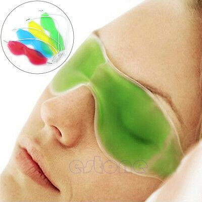 Gel Eye Mask Cold Pack Warm Hot Heat Ice Cool Soothing Tired Eyes&Headache Patch