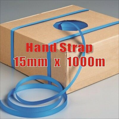 15mm x 1000M Hand Poly Strap Blue strapping polypropylene Break Load