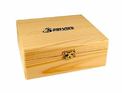 Large Storage Box W Tray Wood Stash New Rolling Supreme Store Papers, Tips, Raw