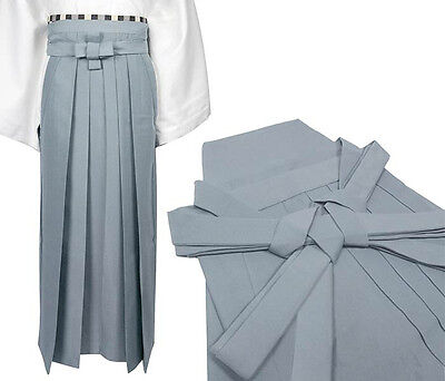 Japanese Traditional Kimono Samurai HAKAMA Pants Polyester Gray from JAPAN