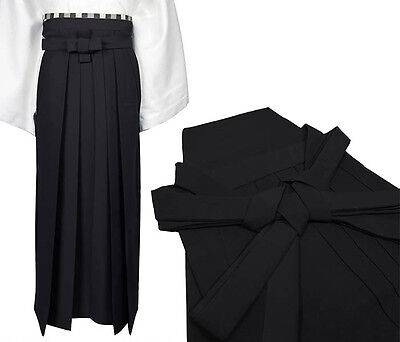 Japanese Traditional Kimono Samurai HAKAMA Pants Polyester Black from JAPAN