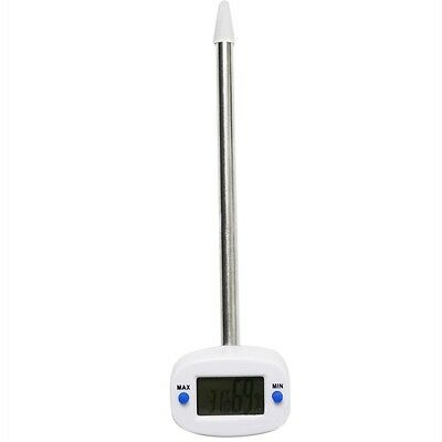 Compact Stainless Steel Stem Digital Thermometer Hygrometer Soil Temp Test 66