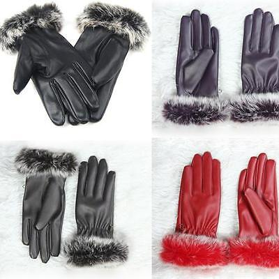 Genuine Ladies Womens Leather Gloves Fleece Lined Driving Soft Winter Warm