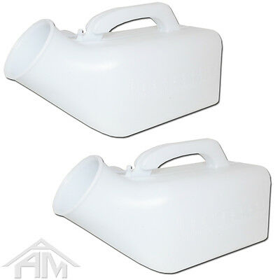 2 x PACK BRAND NEW - MALE GENTS PORTABLE URINAL / CARRY HANDLE  BOTTLE