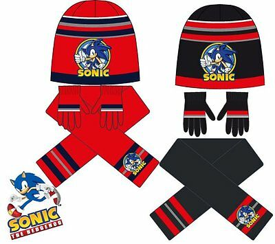 Sonic Childrens Scarf, Hat and Gloves Set HM4302