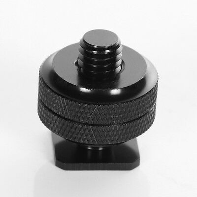 "3/8""to Cold Foot Screw Adapter for Camera Hot Shoe Mount Double Nut Flash Holder"