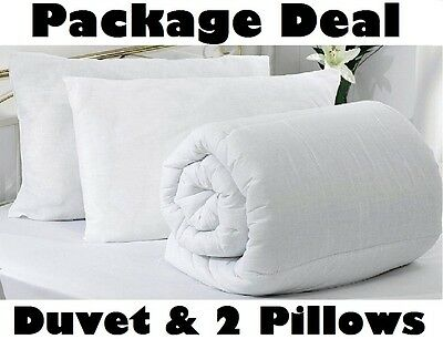 Duvet Quilt & 2 Pillows 4.5 10.5 13.5 15 Tog Single Double King Bed Corovin