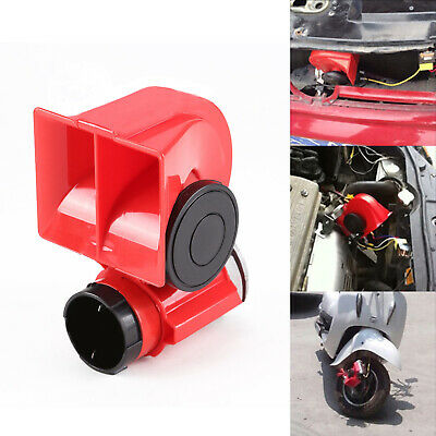 12V New Compact Electrice Twin Tone Air Horns Compressor Car Fits BMW