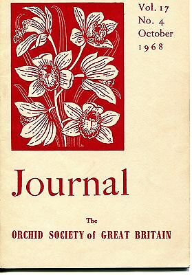 The Orchid Society of Great Britain Journal - Vol 17, No4 Oct 1984