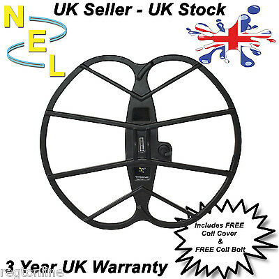 """NEL Coil Big 15"""" x 17"""" for Fisher Gold Bug inc cover - Metal Detecting"""