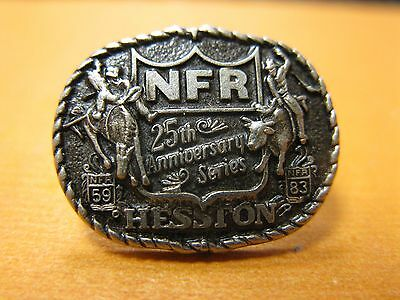 1983 Hesston Hat Pin 25th Anniversary Series National Finals Rodeo FREE SHIPPING