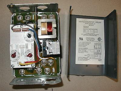 Honeywell L8124C Triple Aquastat High / Low Limit Oil Burner Relay Control