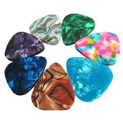 10X Acoustic Electric Guitar Bass Picks Plectrums Thin 0.46mm Multicolor New