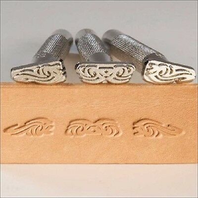 Tribal 3-Piece  LEATHER STAMP SET by TANDY - Free Shipping!