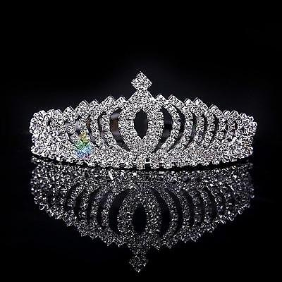 Wedding Bridal Princess Rhinestone Crystal Hair Accessory Party Prom Tiara Crown