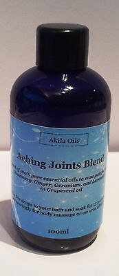 Aching Joints Massage Bath Oil Aroma Blend 100ml Lavender Rosemary Ginger Gerani