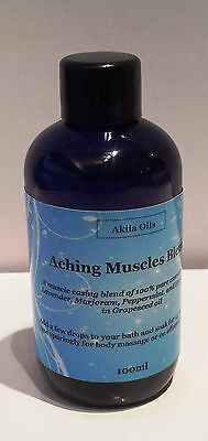 Aching Muscles Massage Bath Oil Aroma Blend 100ml Lavender peppermint Eucalyptus