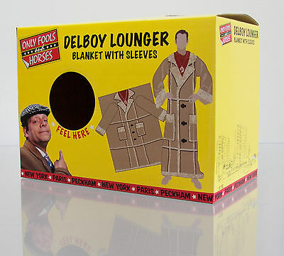 Only Fools & Horses Blanket With Sleeves Fleece Del Boy Lounger OFFICIAL