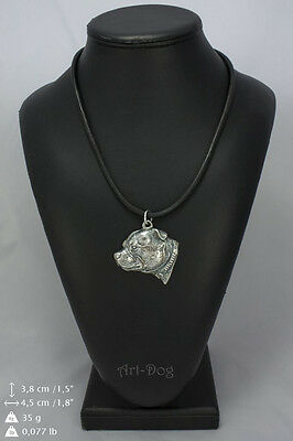 Staffordshire Bull Terrier 2 Dog Necklace, High Quality,Exceptional Gift, ArtDog