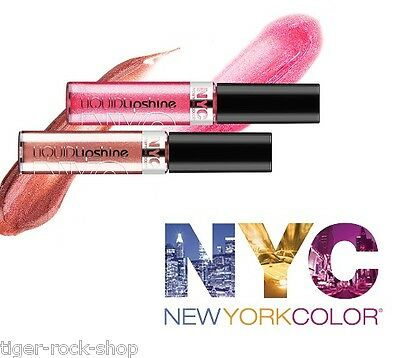 LIQUID LIPSHINE LIPGLOSS Sealed NUDE ~ BABY PINK ~ PURPLE NYC New York Color