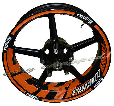 KTM Duke Racing 690 BIG - wheelsticker Felgenaufkleber Motorrad Sticker 3D Folie