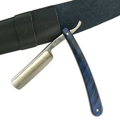Gold Dollar 300 Straight Razor Steel Barber W/ Real Leather Black Pouch