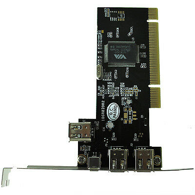 New PCI FireWire IEEE 1394 3 + 1 Port Card + 4/6 Pin Cable UK BTSZUK