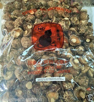 Japan A Grade Dried Shiitake Mushrooms, Large Size & Extra Thick, (5 pounds)