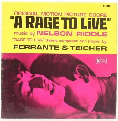 A Rage To Live (Original Motion Picture Score)  Nelson Riddle Vinyl Record