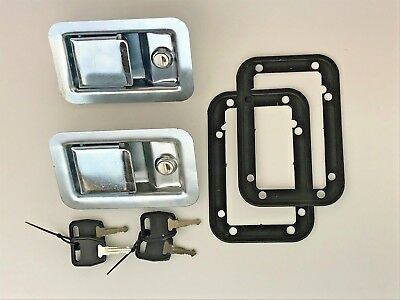 2 X Paddle Lock Zinc Plated Commercial Vehicle Trailer Horsebox Recovery Trailer