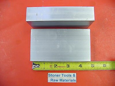 "2 Pieces 1""x 2-1/2"" ALUMINUM 6061 FLAT BAR 4.5"" long T651 Solid Plate Mill Stock"
