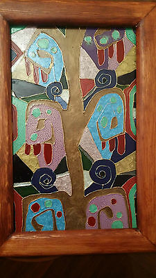 Stained Glass style panel An Original Hand painted design ready to hang