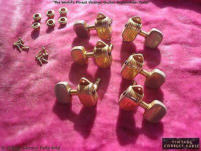 Vintage 1960's Grover Kidney Button Tuners Gretsch White Falcon Viking Country G