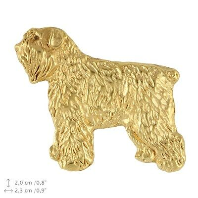 Bouvier des Flandres (body),Dog Pin, Gold plated, High Quality, Exceptional Gift
