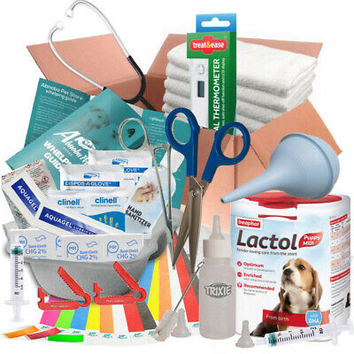 ABNOBAS FULL Whelping Kit Beaphar Lactol Puppy Dog Milk Feeding Bottle 66+ Items