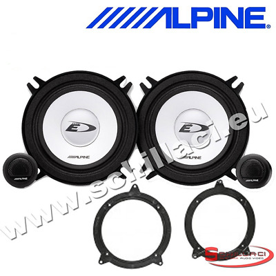 "ALPINE BMW 3 SERIES E46 98-05 5.25"" 13cm 500W Component Front Door Car Speakers"