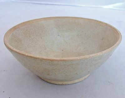 "SONG Dynasty ? Antique Chinese Celadon Green Glazed Pottery Tea Bowl  (4.75"")"