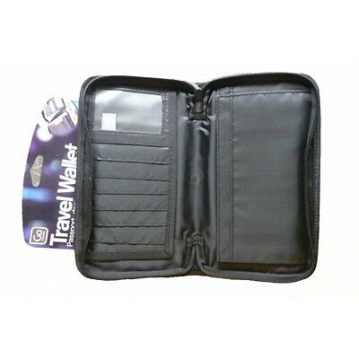Go Travel Passport Documents Cards Zippered Wallet Case Holder Convenient New