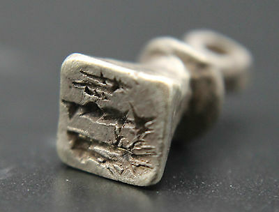 ANCIENT EUROPEAN Medieval Period SILVER STAMP Pendant 1000-1300 AD
