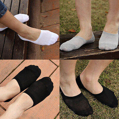 6 Pairs Men Loafer Boat Invisible No Show Nonslip Liner Low Cut Cotton Socks OY