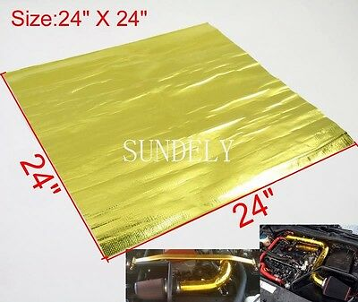 24'' x 24'' Self Adhesive Reflective Gold High Temperature Heat Shield Wrap Tape