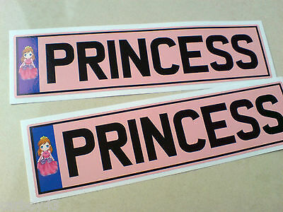 CHILDRENS KIDS 'PRINCESS' RIDE ON NUMBER PLATE  Electric Pedal Car Jeep 140mm